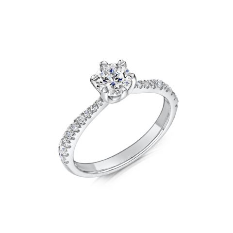 0.53 Carat GIA GVS Diamond solitaire Platinum. Round brilliant Engagement Ring, MPSS-1205/033